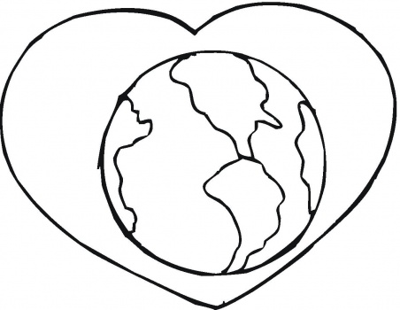 452x350 Latest Earth Love Printable Coloring Pages For Kids