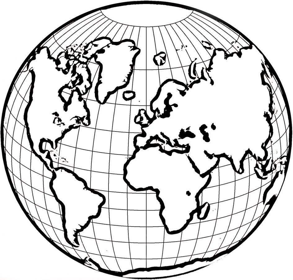 945x903 Earth Coloring Page