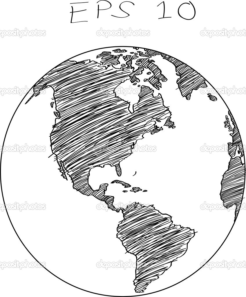 Earth globe drawing at getdrawings free for personal use earth 848x1024 12 world map vector line images gumiabroncs Images