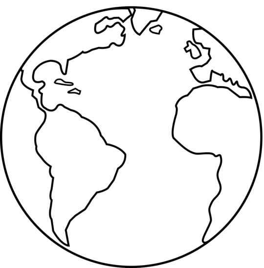 Good 540x550 Colorable Earth Line Art
