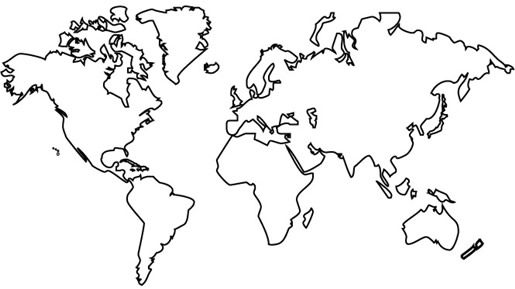Earth map drawing at getdrawings free for personal use earth 515x289 gallery line drawing of the world gumiabroncs