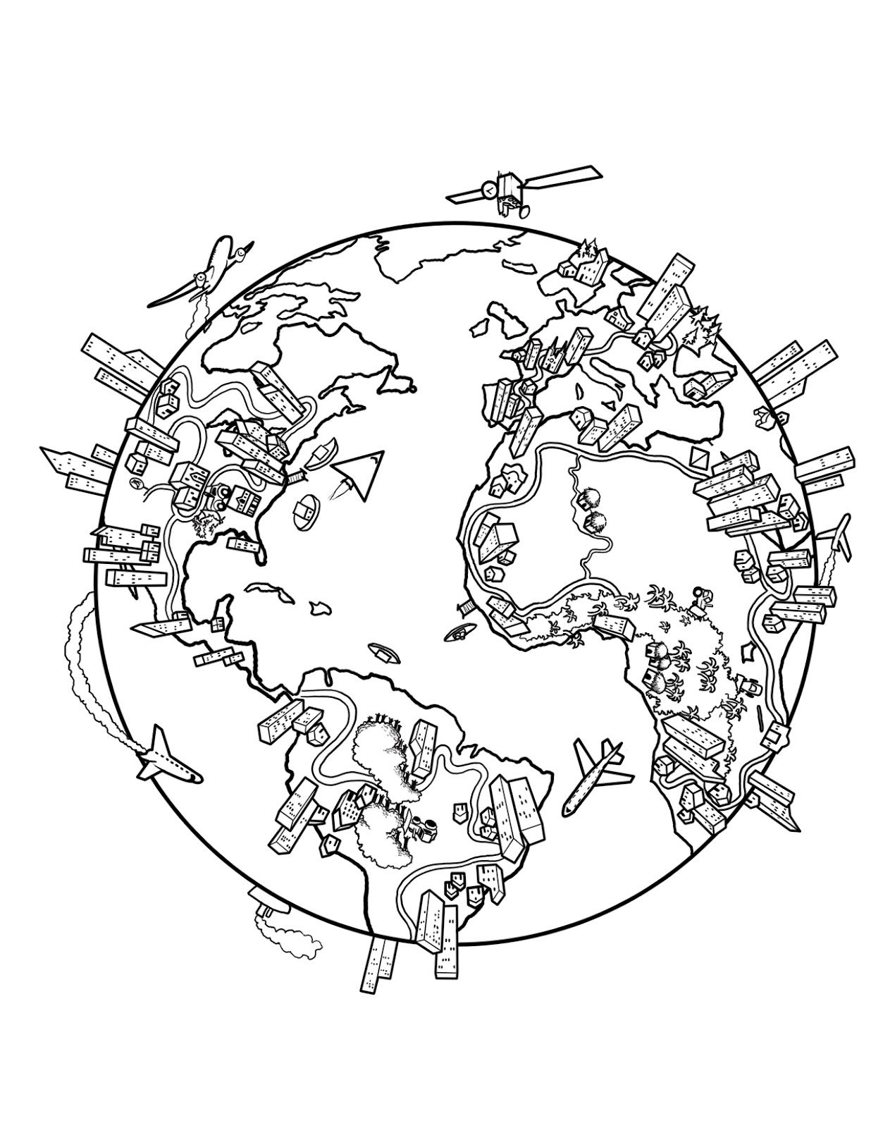 1236x1600 World Map Coloring Page This Is A Drawing I Did While Back