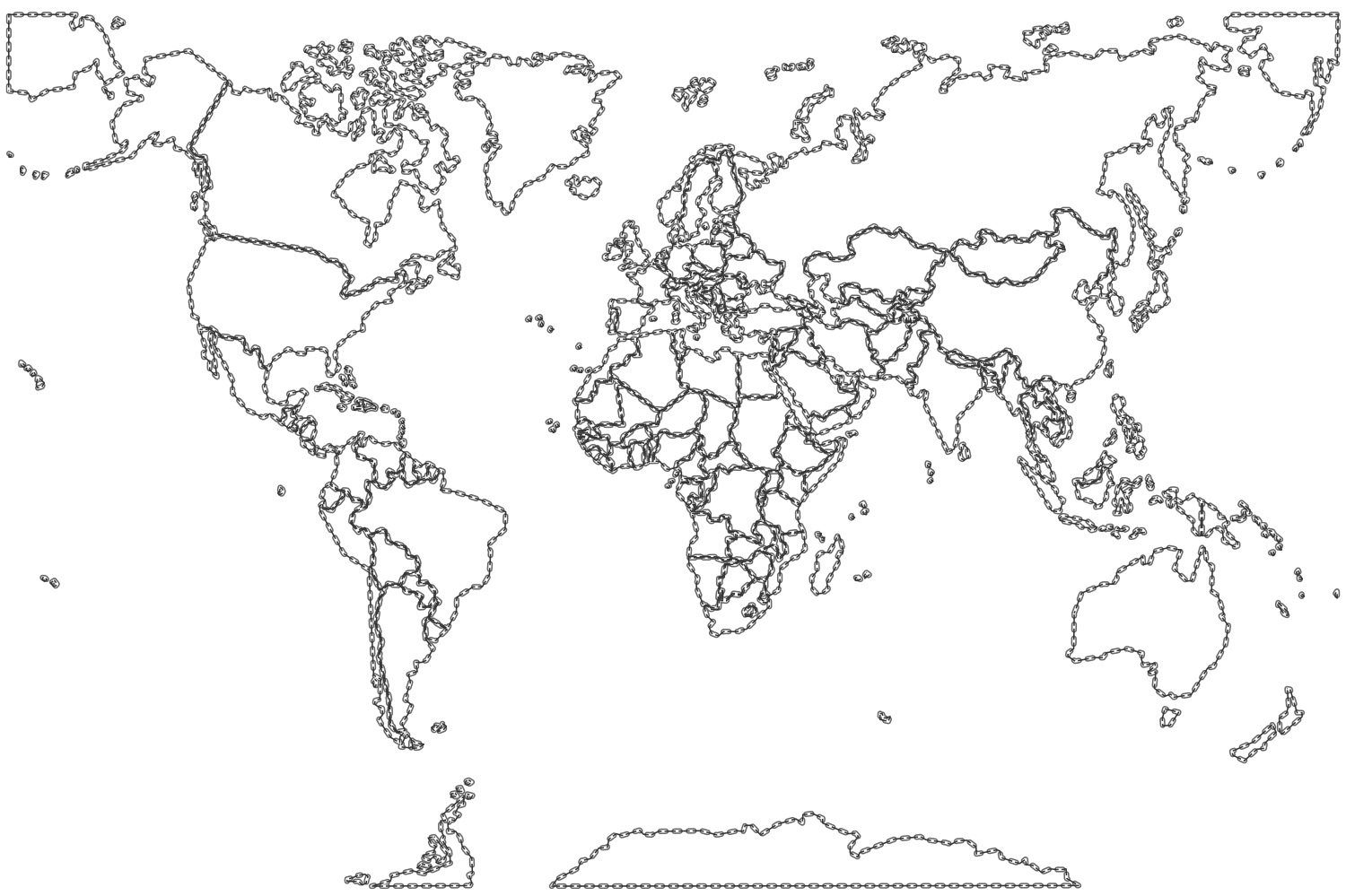 Earth map drawing at getdrawings free for personal use earth 1500x999 world map coloring page for kids drawing of gumiabroncs Images