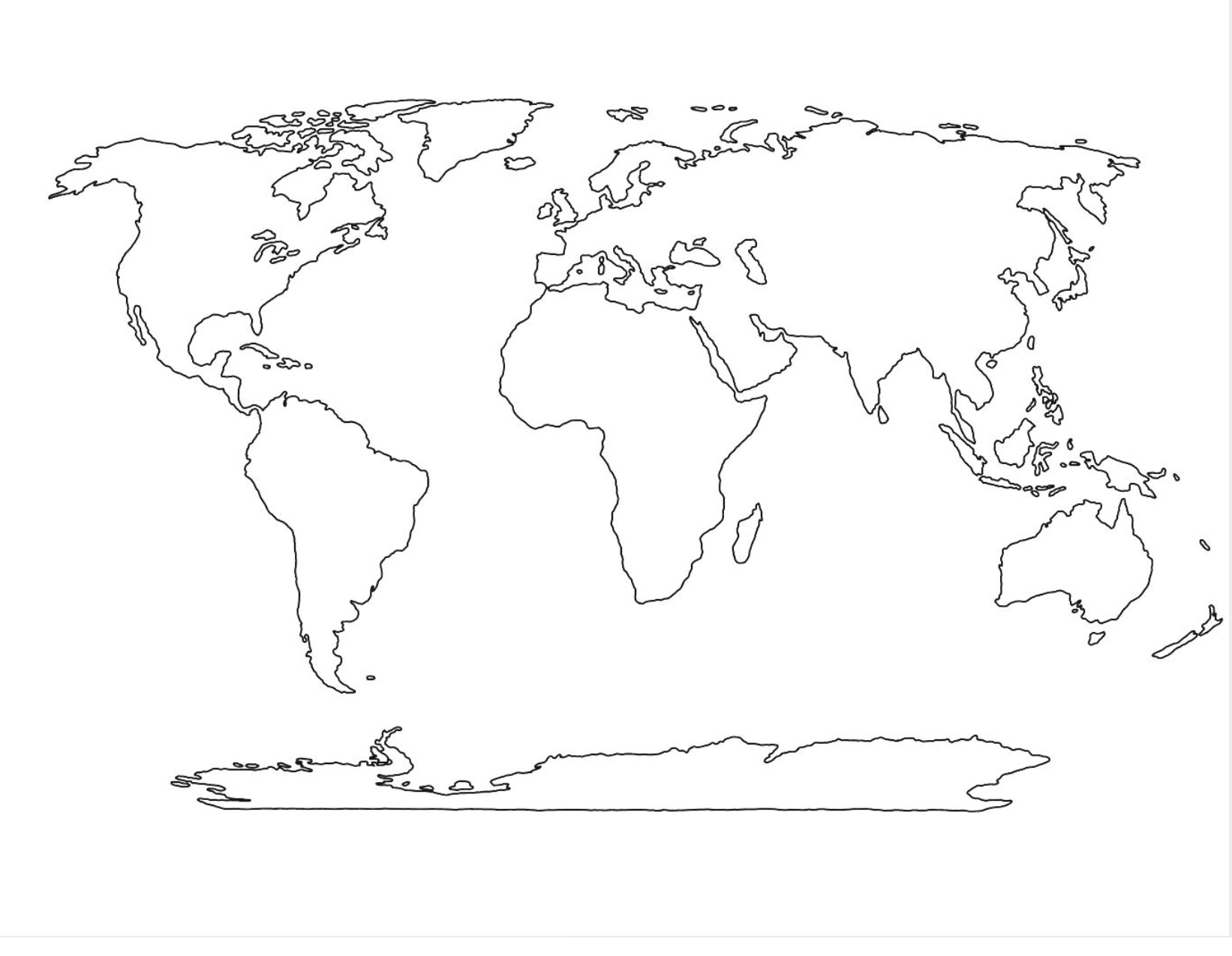 Earth Map Drawing
