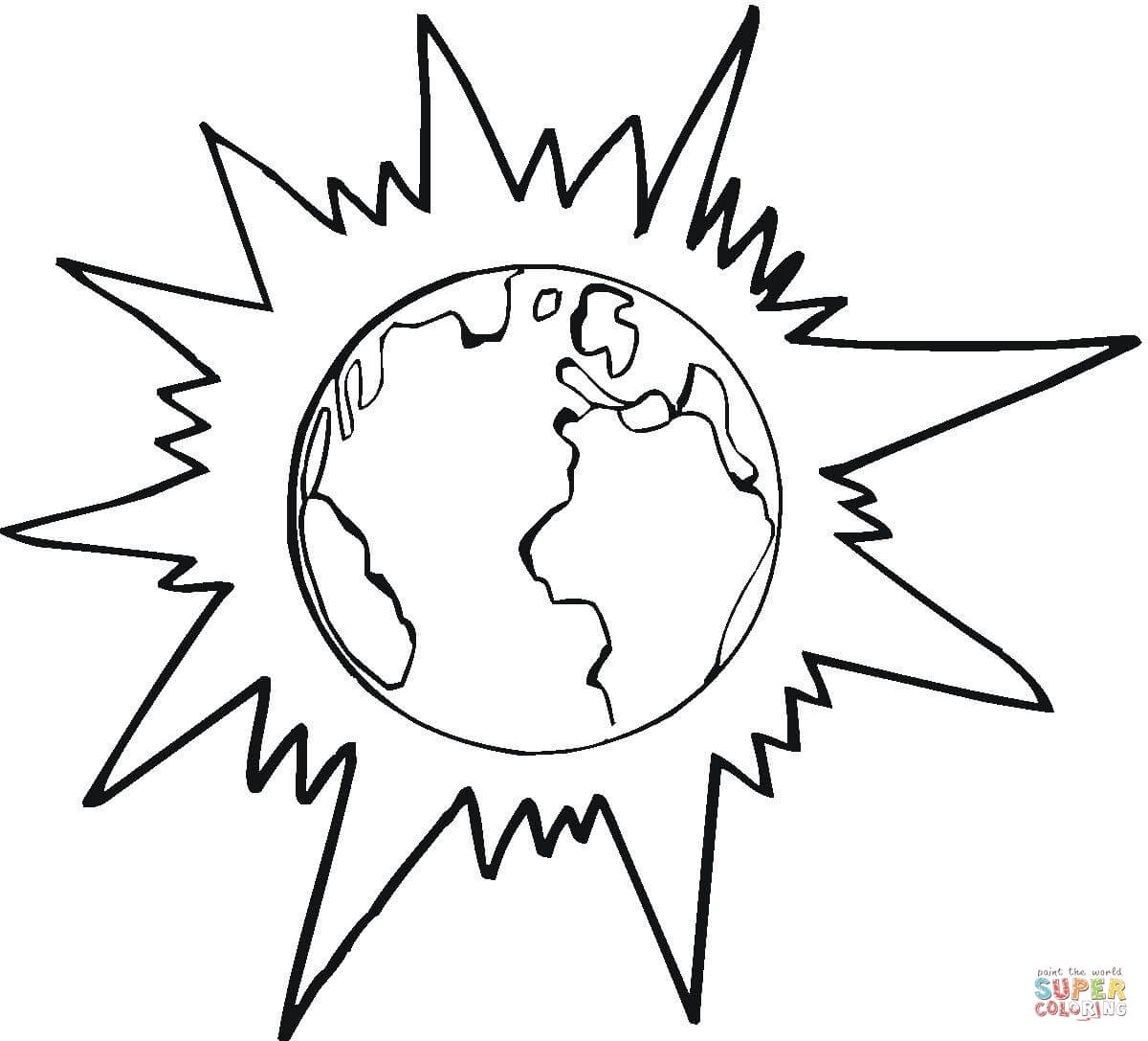 1200x1087 Earth, Moon And Sun Coloring Page Free Printable Coloring Pages