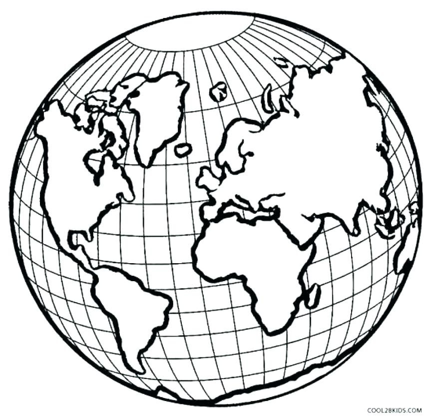 863x839 Earth Coloring Pages Our Planet Earth Coloring Page Earth Coloring