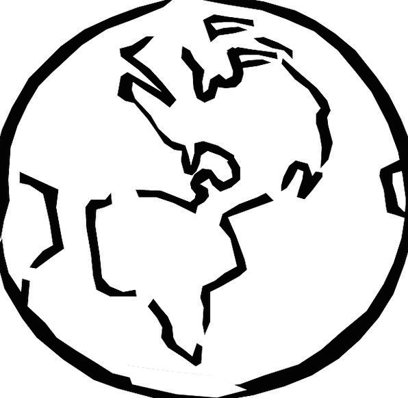 596x582 Globe, Sphere, Biosphere, Planet, World, Earth, Soil, Sketch