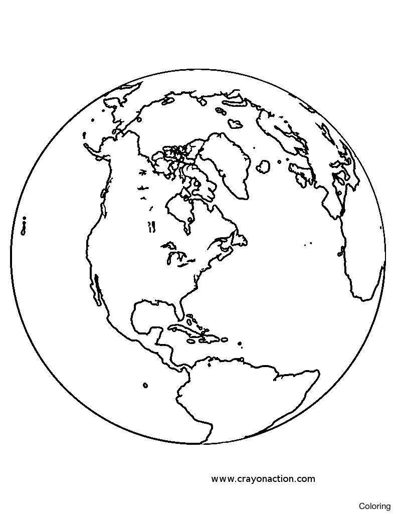 790x1025 Planet Earth Coloring Page Globe Printable 14f Pages Diaiz