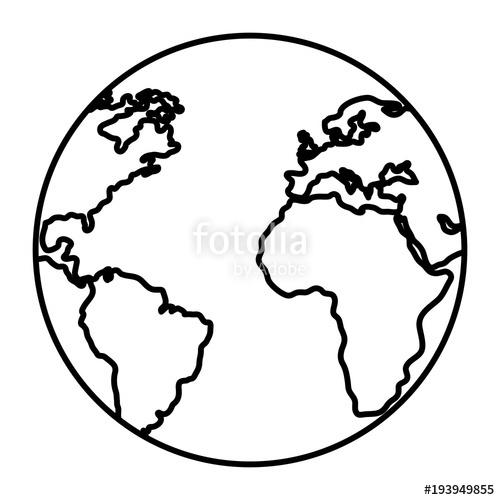 500x500 Earth Planet School Icon Vector Illustration Design Stock Image
