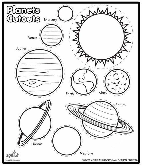 553x645 Drawn Planets Solar System