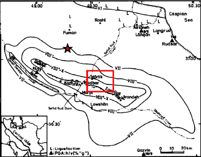 647x504 Intensity Map Of Manjil Earthquake [10] Star Shows