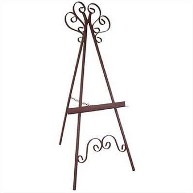 398x398 Red Barrel Studio Karol Hand Painted Wrought Iron Easel Amp Reviews