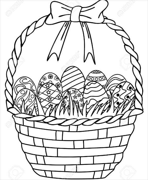 Easter Basket Drawing
