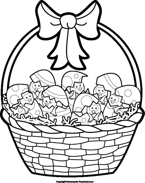 571x716 Cute Spring Easter Basket Drawing Cartoon Easter Basket