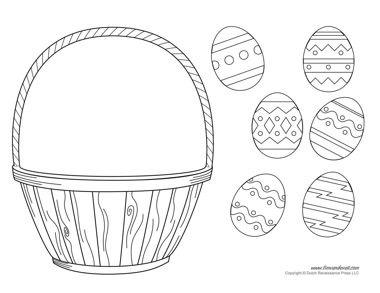 1500x1159 Easter Basket Template, Easter Basket Clipart Amp Easter Craft