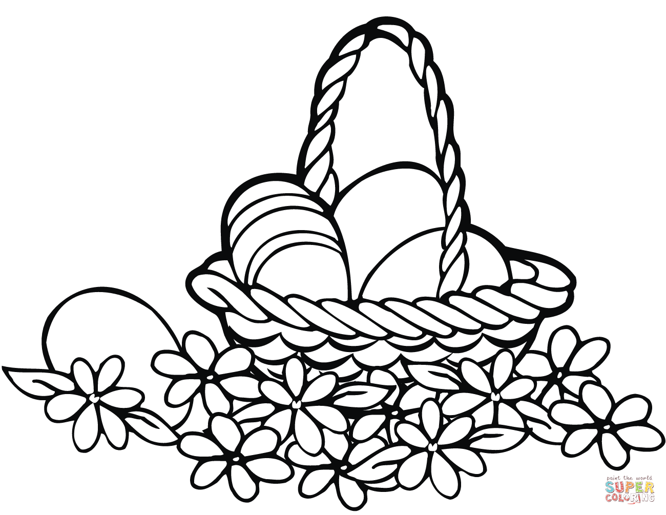 1300x1005 Easter Basket Coloring Page Free Printable Coloring Pages