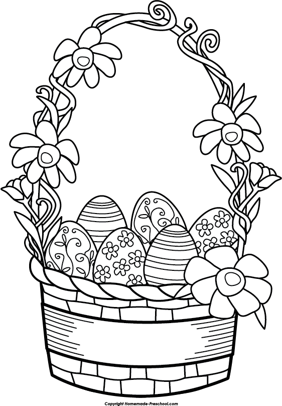 562x808 Free Easter Basket Clipart