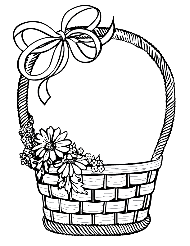 612x792 Fun 4 Kids Easter Basket And Cut Out Eggs 1