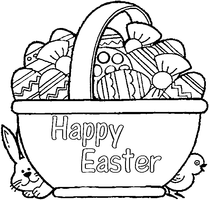 672x643 Trend Easter Basket Coloring Pages 39 About Remodel Model Coloring
