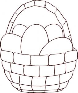253x302 How To Draw An Easter Egg Basket Step 4 Easter