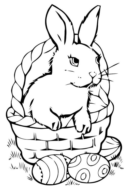 531x750 Coloring Page Easter Basket