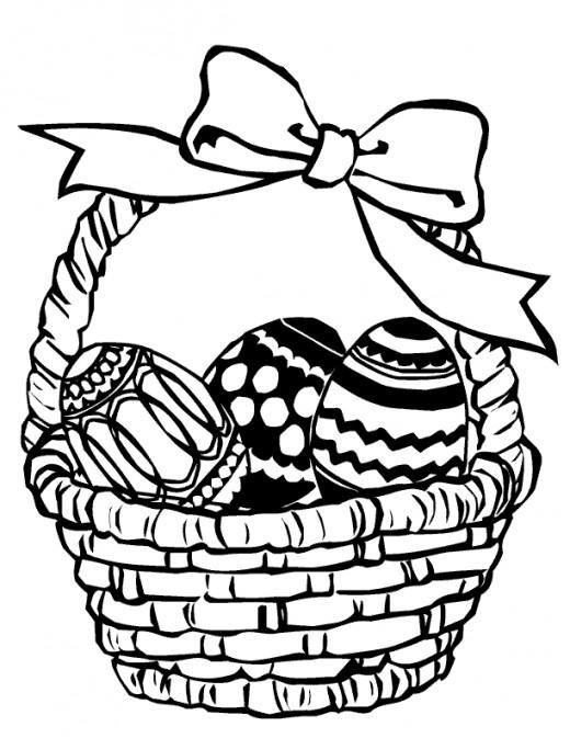 520x673 Cute Spring Easter Basket Drawing Cartoon Easter Basket