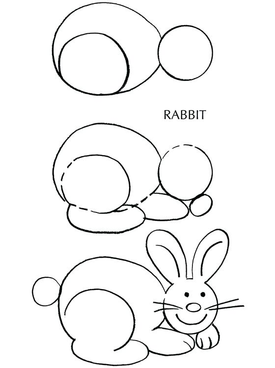 560x750 How To Draw A Bunny Step By Step Bunny Egg Card Step 2 How To Draw