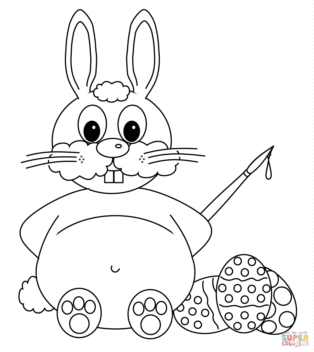 1340x1500 Drawn Rabbid Easter Bunny