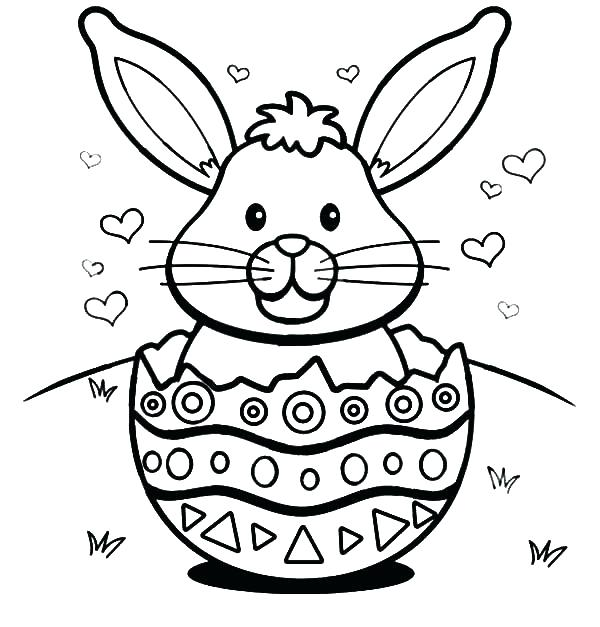 600x627 Easter Bunny Coloring Sheets As Well As Bunny Coloring Pages