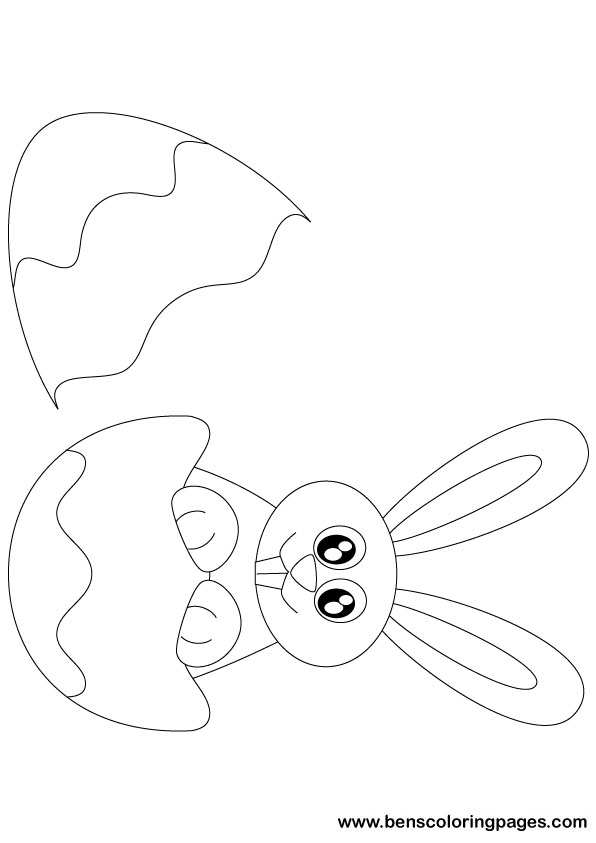 596x843 Easter Bunny 2011 Coloring Page