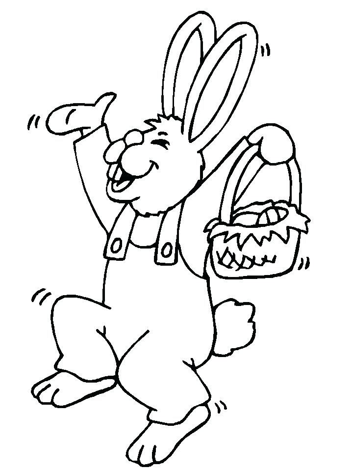 718x957 Easter Bunny Coloring Pages To Print An Bunny Hopping Two Pages
