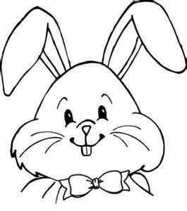Easter Bunny Face Drawing
