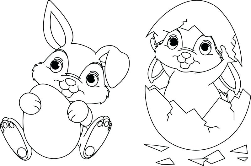 800x529 Easter Bunny And Eggs Coloring Pages Cute Bunny With Egg Coloring