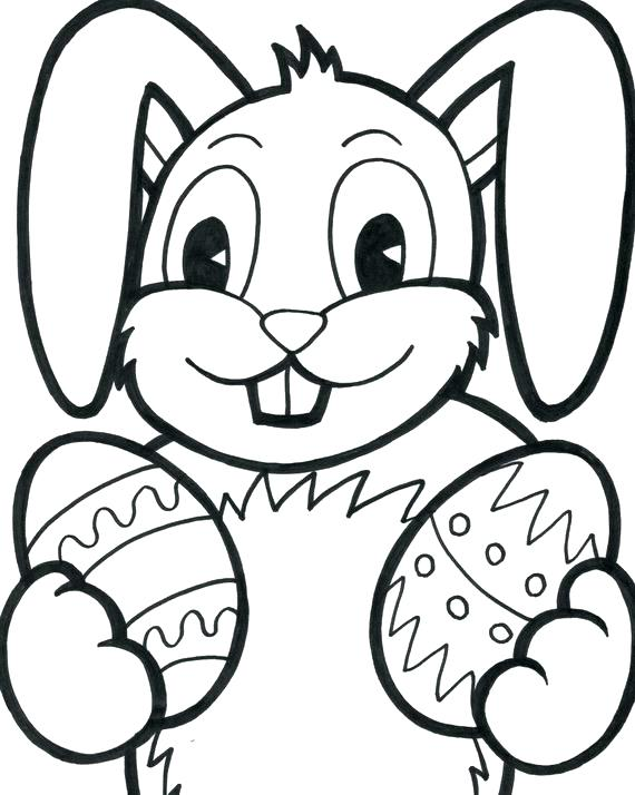 570x714 Easter Bunny Color Sheet Bunny Coloring Pages To Print Bunny