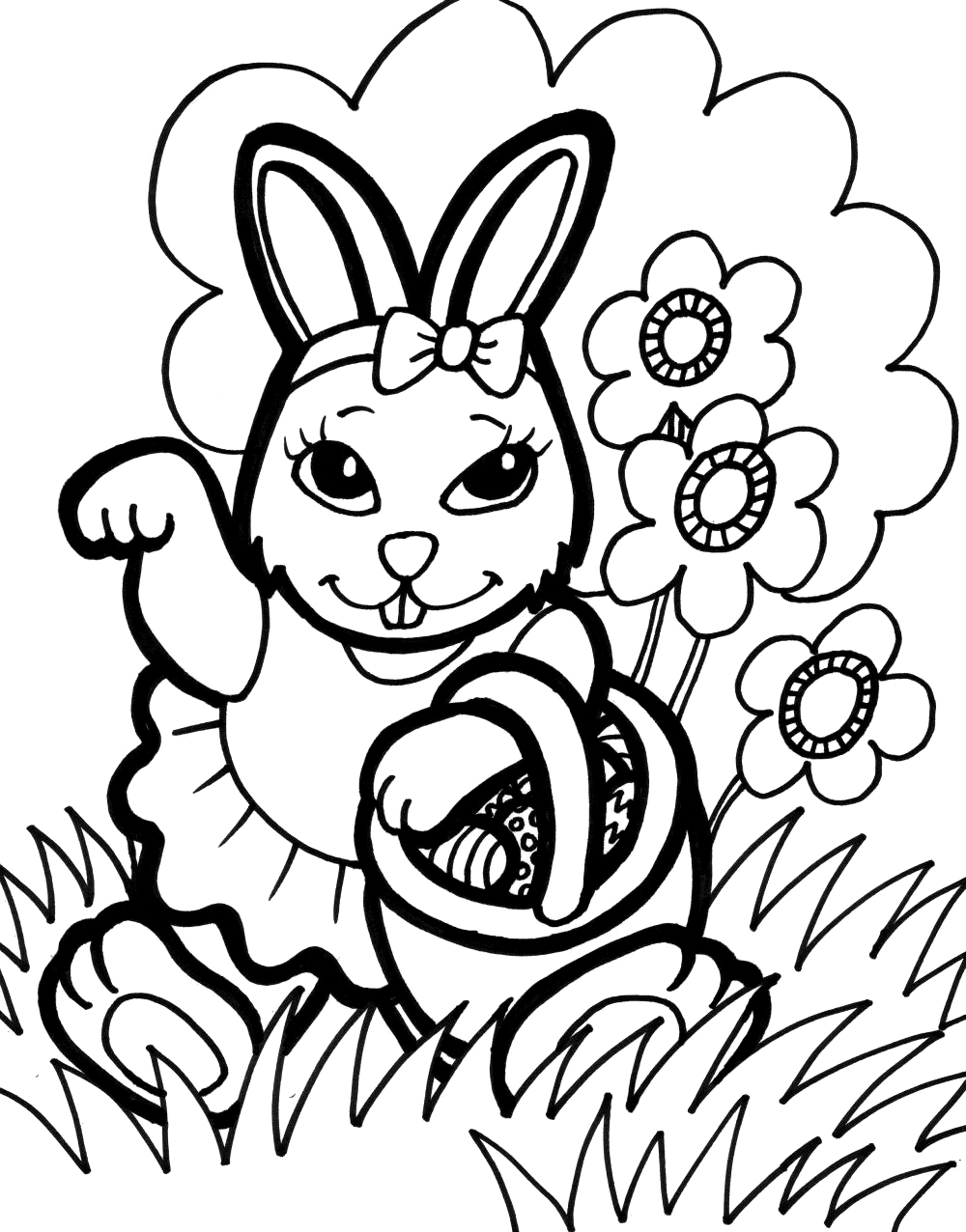 Easter Bunny Face Drawing at GetDrawings.com | Free for personal use ...