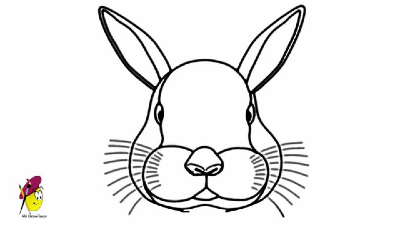 Bunny Face Line Drawing : Easter bunny face drawing at getdrawings free for