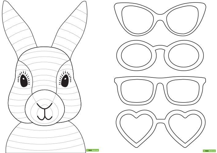 707x500 Easter Bunny Face Templates Hd Easter Images