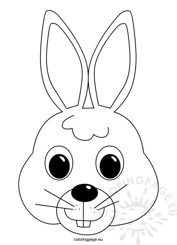 581x803 Easter Bunny Face Coloring Page Coloring Page