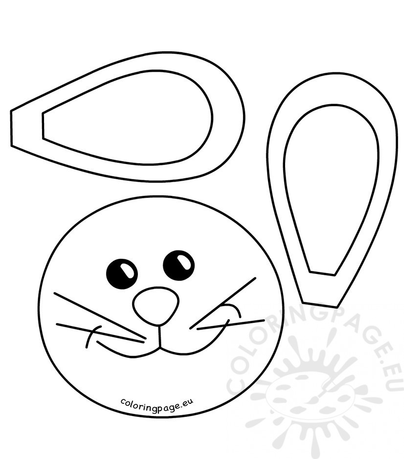 826x940 Easter Bunny Face Pattern Coloring Page