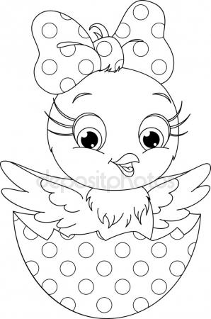 Easter Chick Drawing at GetDrawings.com   Free for personal use ...