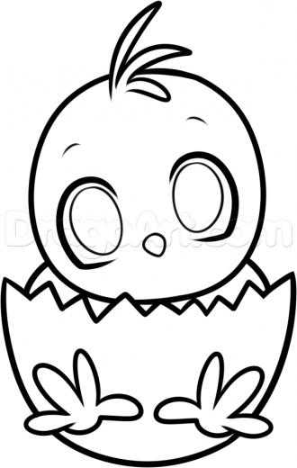 330x520 Easter Chick Drawing Hd Easter Images
