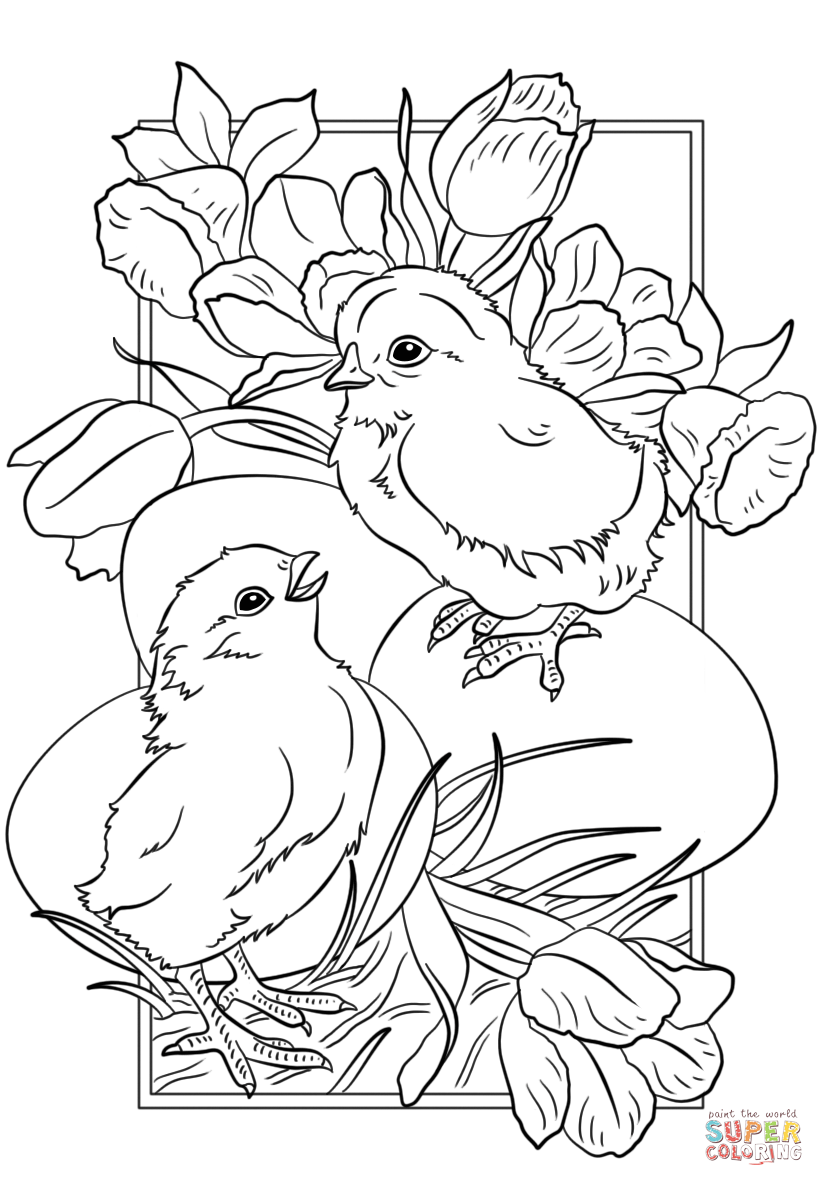 824x1186 Easter Chicks Coloring Page Free Printable Coloring Pages