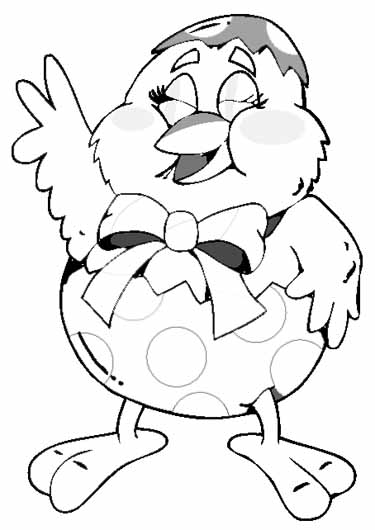 375x530 Happy Easter Chick Coloring Pages