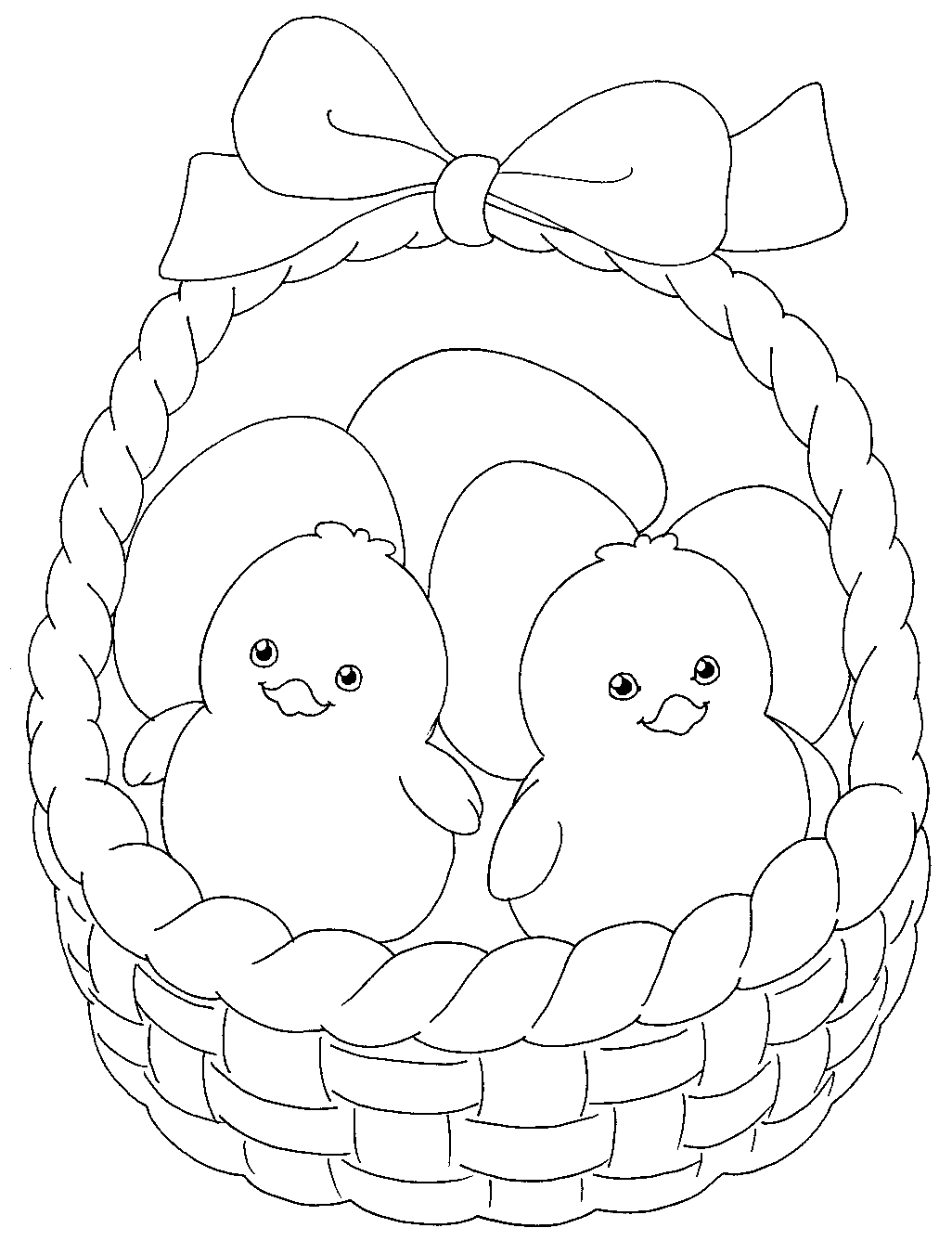 1026x1337 Here Are Two Very Cute Easter Chicks In A Basket For You To Print