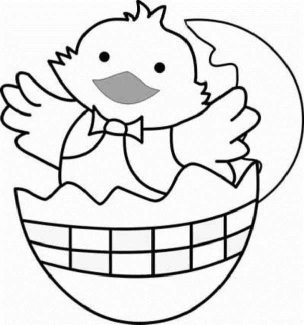 609x650 Easter Coloring Pages Baby Chicks Animal Easter