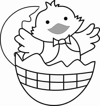 400x427 Baby Chick Preschool Coloring Pages Easter Easter Coloring Pages