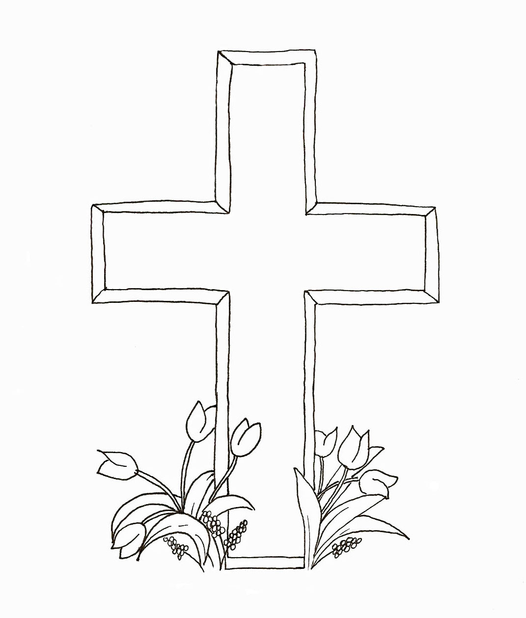 1071x1259 Easter Cross Coloring Pages Hd Easter Images