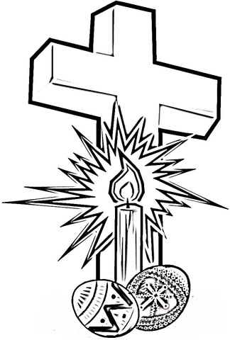 324x480 Easter Cross With Eggs Coloring Page Free Printable Coloring Pages