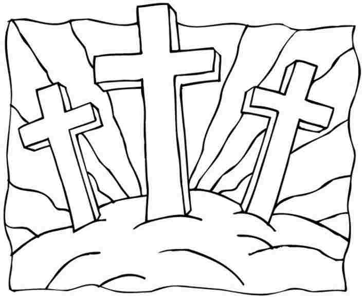 Easter Cross Drawing At GetDrawings
