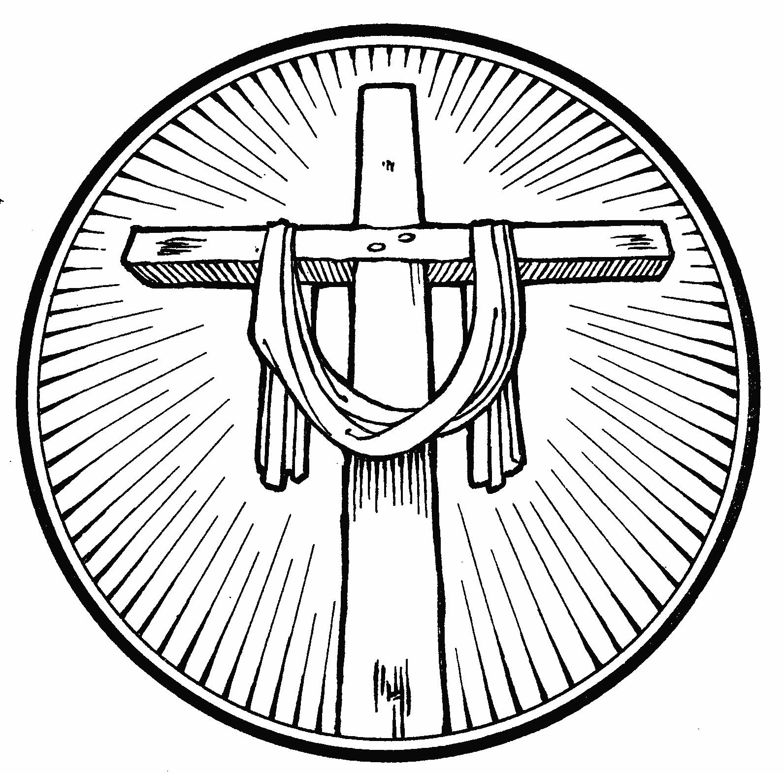 1592x1572 Cross Coloring Pages
